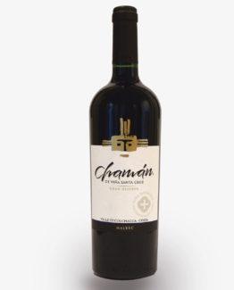 vino chaman gran reserva malbec viña santa cruz