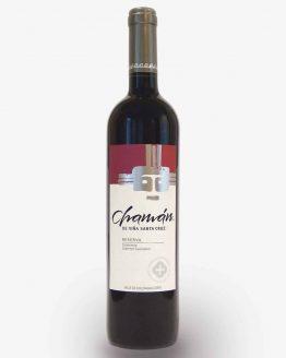 vino chaman reserva cabernet carmenere viña santa cruz